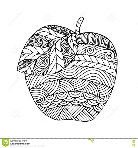 coloring pages for adults vector adult coloring book page design with the image of an apple