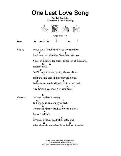 love song for no one lyrics traducida images of love one last love song sheet music by the beautiful south