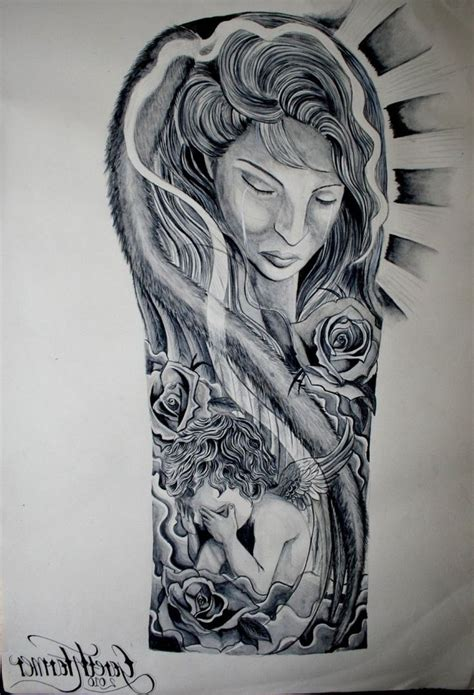 tattoo sleeve drawings religious half sleeve drawings ink design
