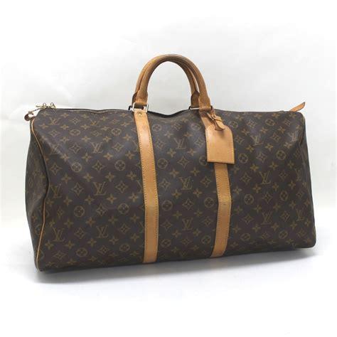 authentic louis vuitton monogram keepall 55 bag with strap authentic louis vuitton monogram keepall 55 travel duffle