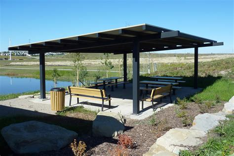 Outdoor Metal Shelters by Steel Picnic Shelters Custom Park Leisure