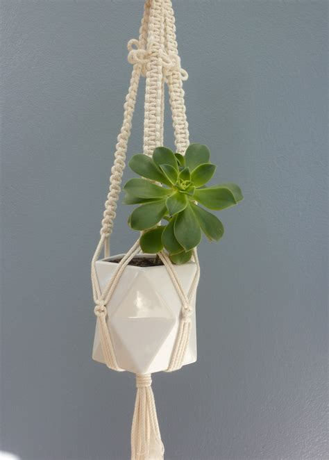 Hanging Macrame Plant Holder - quot butterfly quot macrame hanging pot plant holder felt