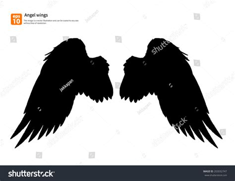 designing silhouettes of angels demo new angel wings silhouette vector design stock vector
