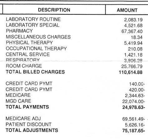 emergency room cost no insurance my s hospital bill reveals the true cost of
