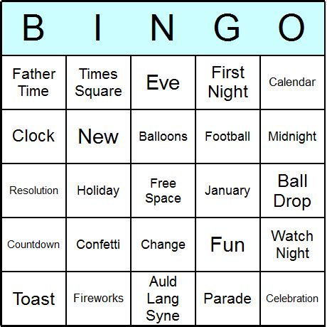 new year picture bingo new year bingo cards printable bingo activity and