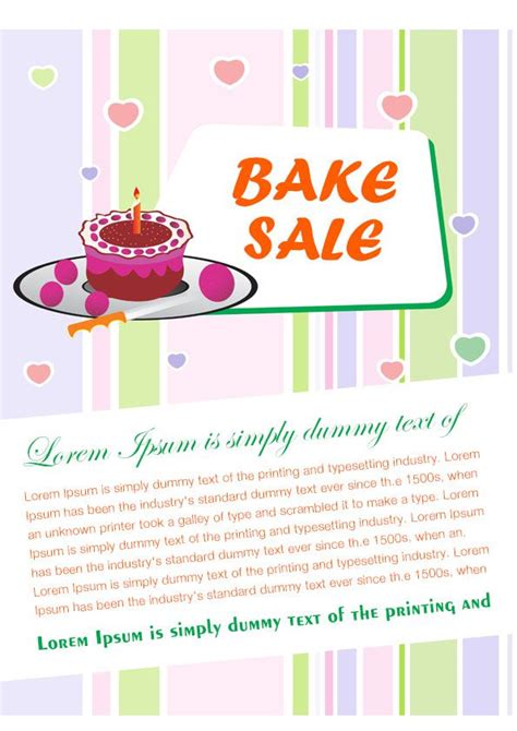engaging free bake sale flyer templates for fundraising