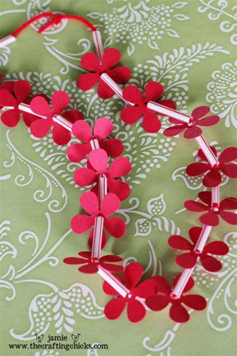 How To Make Paper Leis - creative diy projects you can make with straws