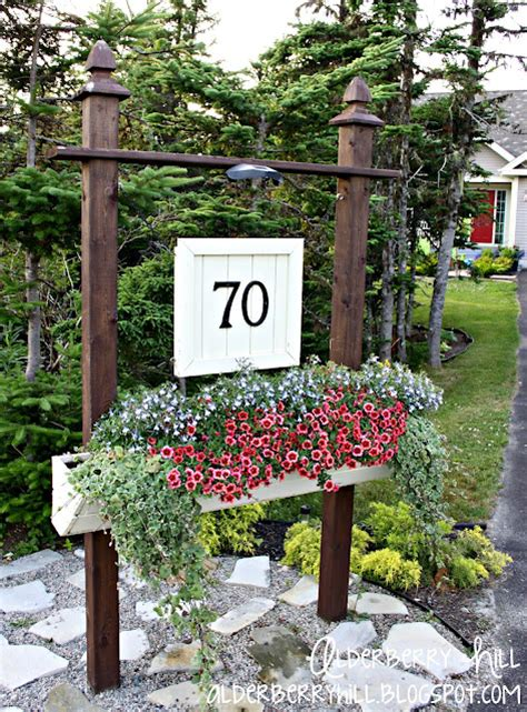 Garden Of Number Best 25 Address Signs Ideas On Address