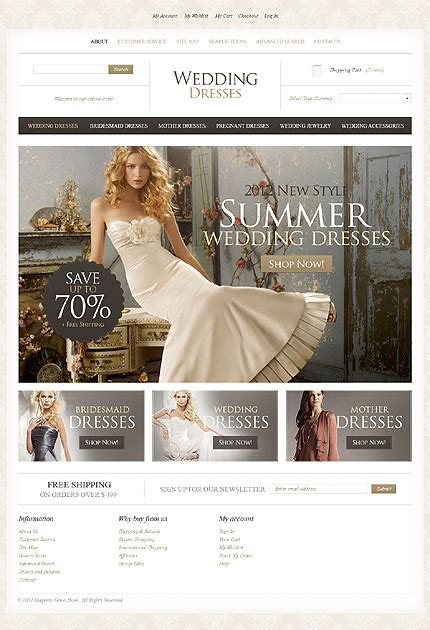 Wedding Accessories Website by Top 30 Wedding E Commerce Themes