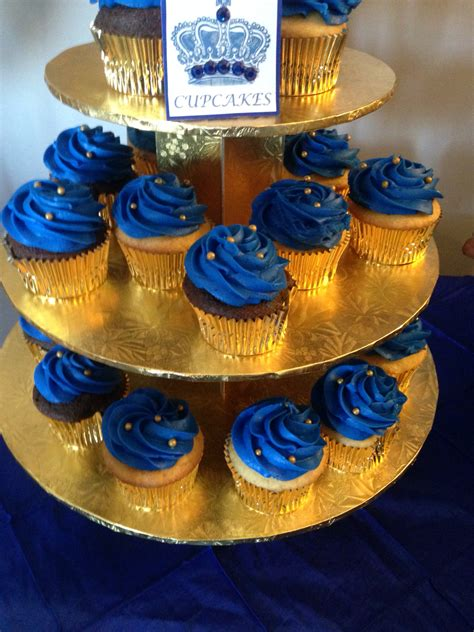 Prince Baby Shower Cupcakes by Royal Blue Cupcakes To Match The Cake Miashia Baby