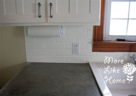 faux white brick backsplash pin by tracey barnes on interiors