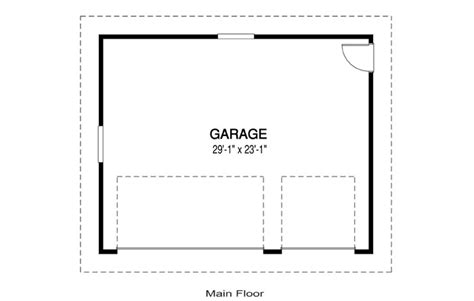garage floor plan house plans garage b linwood custom homes