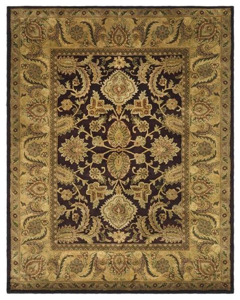 half area rugs classic purple yellow area rug cl244b 2 x 4 half moon traditional rugs by zopalo