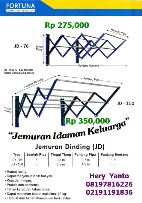 Membuat Jemuran Dinding | jemuran dinding tangga lipat aluminium fiberglass