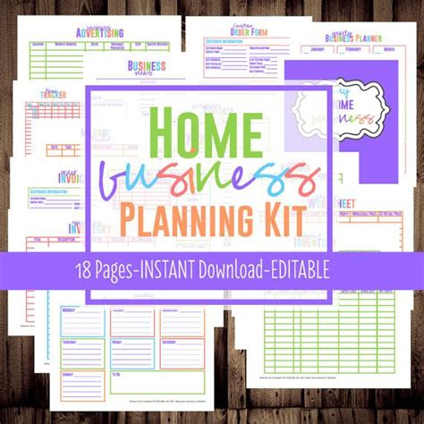 printable home business planner 6 best images of business planner printable free