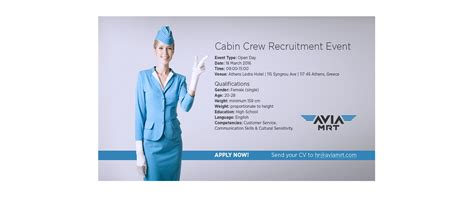 cabin crew recruitment cabin crew recruitment event athens greece aviamrt