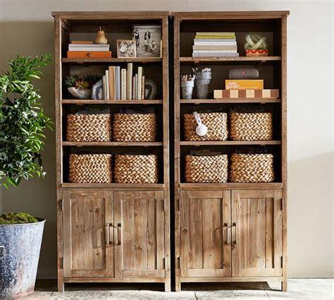 bookshelves pottery barn wide bookcase pottery barn