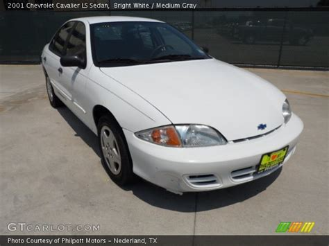 bright white  chevrolet cavalier ls sedan medium