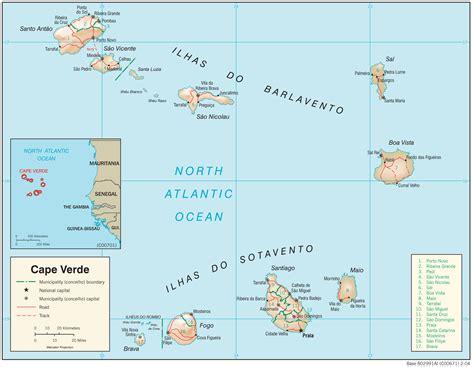 mapa de cabo verde map of cabo verde 187 travel