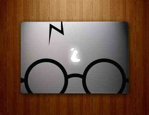 Sticker Laptop Sticker Macbook Sticker Apple Macbook Decal 13 harry potter glasses macbook decals mac decal macbook pro decal macbook air decal mac stickers