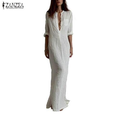 Autumn Casual Dress 25 zanzea fashion vestidos 2017 autumn casual dress sleeve v neck linen split