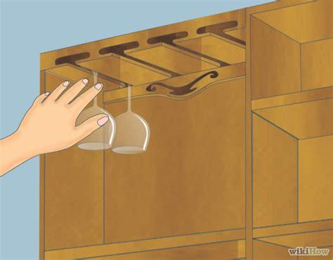 rastrelliera bicchieri come fare una rastrelliera per appendere i bicchieri da