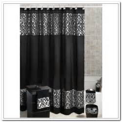black and silver shower curtains curtain curtain image
