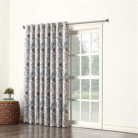 Patio Door Curtains Bed Bath Beyond Sun Zero Allena Grommet Top Wide Patio Door Curtain Panel In Bed Bath Beyond