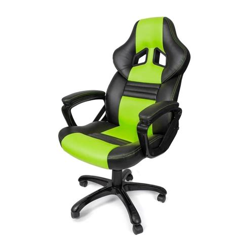 Green Gaming Chair by Arozzi Monza Gaming Chair Green Pulju Net