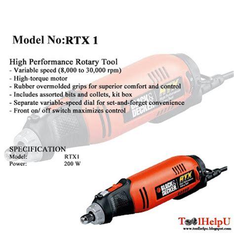 Mesin Rotary Tool Black And Decker Rtx 1 Die Grinderm Promo tool help u black and decker high performance rotary tool
