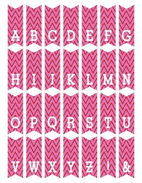 free printable alphabet letters bunting 1000 images about free mini cake bunting printable on