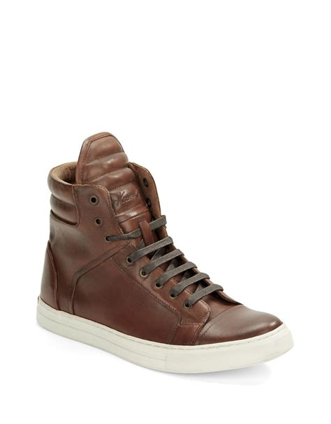kenneth cole high top sneakers kenneth cole header high top sneakers in brown