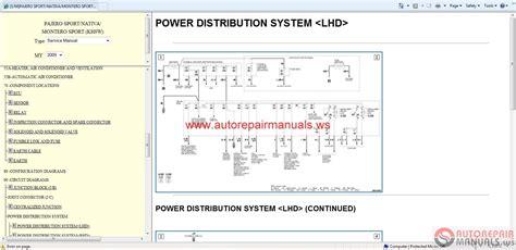 car repair manuals download 1998 mitsubishi pajero engine control 2016 mitsubishi pajero sport wiring diagrams repair