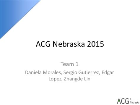 Acg Cup Mba Competition by Team 1 Presentation Acg Cup V1