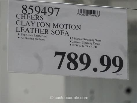 cheers leather sofa costco cheers clayton motion leather sofa