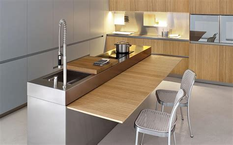 hidden kitchen table modern kitchen with space saving solutions design ideas