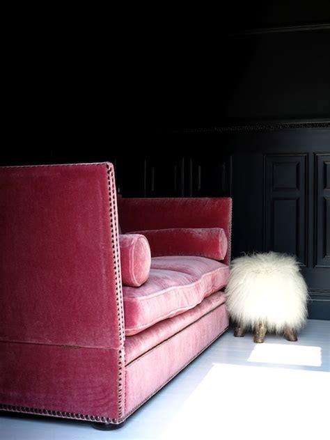 pink velvet sofa pink velvet sofa eclectic living room farrow and