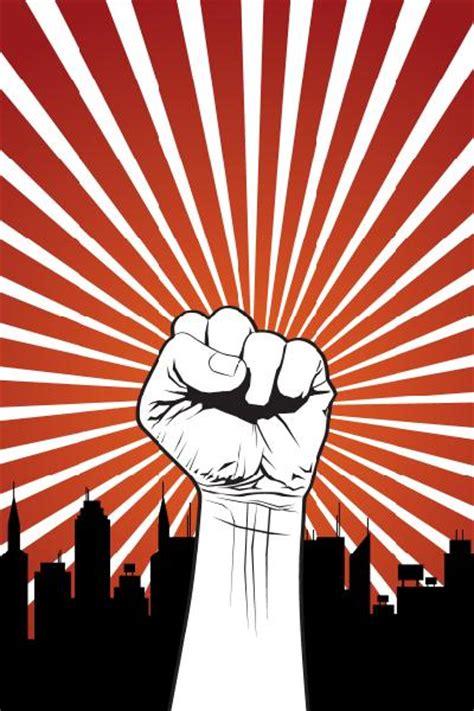 design revolution background 充满力量的拳头矢量素材图片