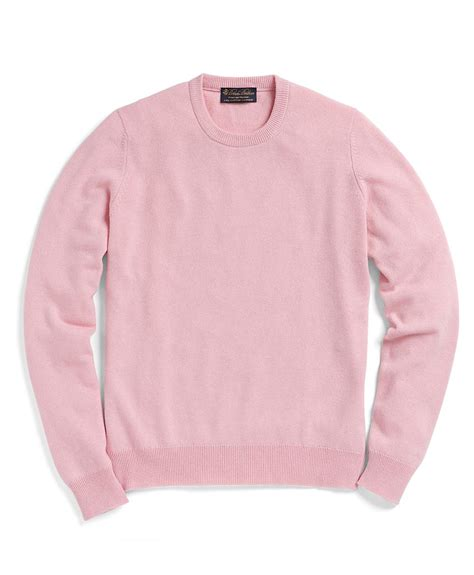 womens light pink sweater lyst brothers crewneck sweater in pink