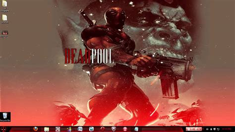deadpool windows 7 theme deadpool theme windows 7 youtube