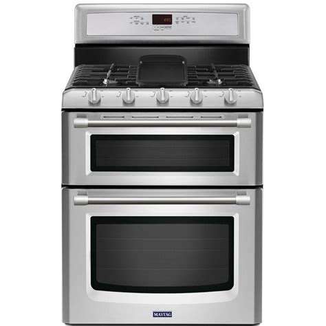 Oven Gas Convection maytag gemini 6 0 cu ft oven gas range with self cleaning convection oven in stainless
