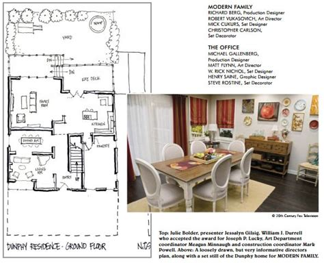 Modern Family Dunphy Floorplan House Plans Pinterest Modern Family Modern And