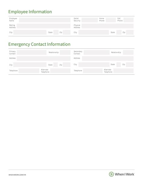 contact information template word employment separation letter