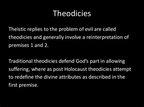 Makes Attempt To Redefine by The Problem Of Evil And Suffering