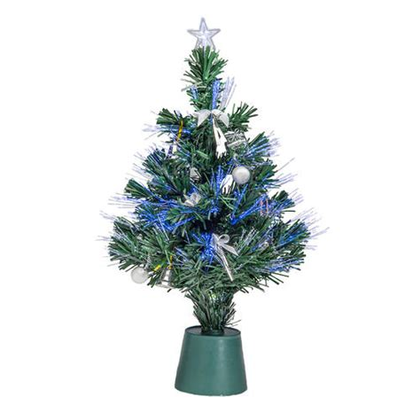 14 quot led fiber optic tree assorted styles at menards 174