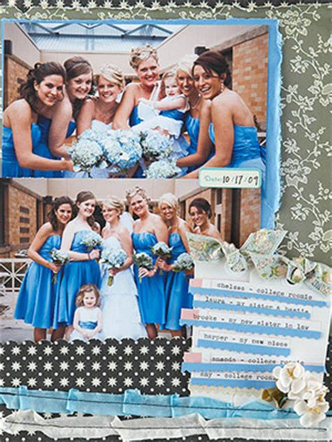 layout of wedding party clairelouise s blog fun scrapbook layout from scrappity