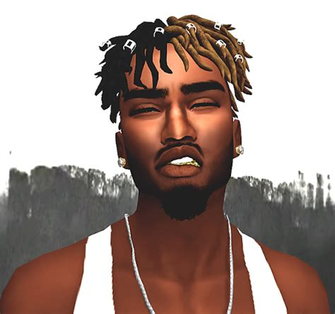 sims 4 cc black hairstyles dameon dreads w clips and goatee sims 4 custom content