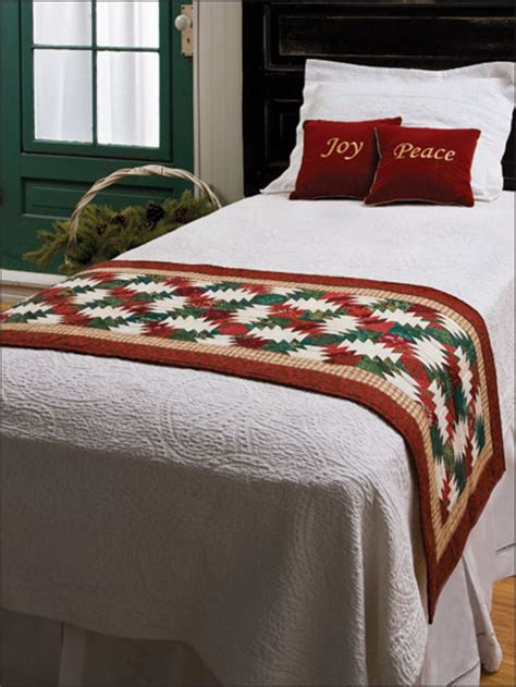bed runner patterns thrill overnight guests with this christmas bed runner