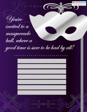 free masquerade invitation templates masquerade invitation templates lovetoknow