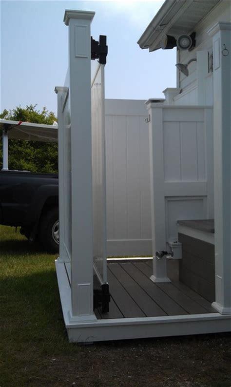 pvc outdoor shower vinyl outdoor shower